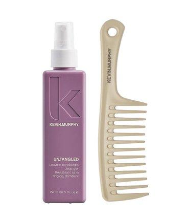 Kevin Murphy Untangled + Kevin Murphy Texture Comb - zestaw ułatwiający rozczesywanie włosów